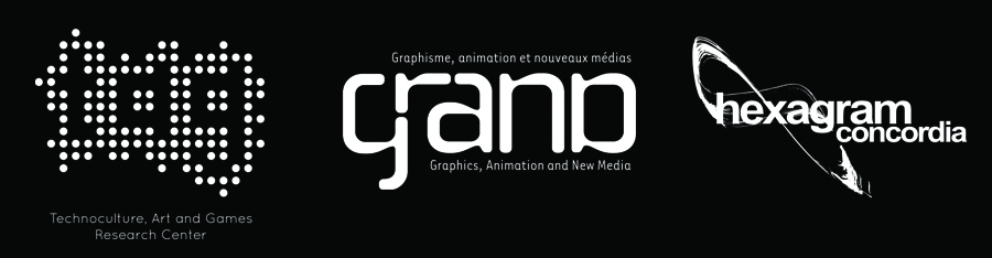Salon Ludique is supported by the Technoculture, Art and Games Research Centre, The Hexagram Centre for Research Creation in Media Arts and Technologies, and Grand (Graphics, Animation and New Media).