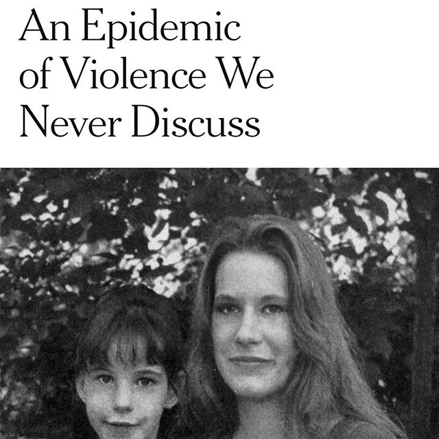 """Domestic violence has reached epidemic proportions in the United States. Fifty women a month are shot and killed by their partners. Domestic violence is the third leading cause of homelessness. And 80 percent of hostage situations involve an abusive partner"". https://www.nytimes.com/2019/06/07/books/review/rachel-louise-snyder-no-visible-bruises.html"