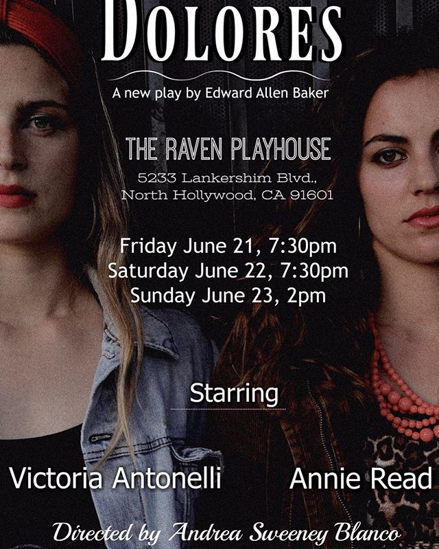 Dolores is produced and directed by women, and made to benefit women and children in domestic violence situations. The show opens next weekend at the Raven Playhouse in North Hollywood, ticket sale and concession proceeds will go towards The Good Shepherd Shelter.  Ticket Link: https://www.eventbrite.com/e/dolores-tickets-63251445777?utm-medium=discovery&utm-campaign=social&utm-content=attendeeshare&utm-source=strongmail&utm-term=listing
