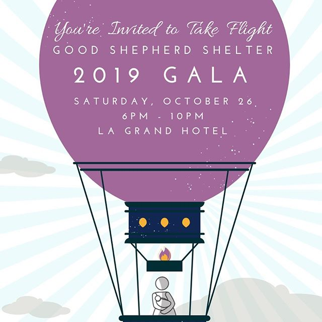 Take flight with Good Shepherd Shelter as we celebrate our 42nd year of working to stop the generational cycle of domestic violence. http://bit.ly/GSSGALA