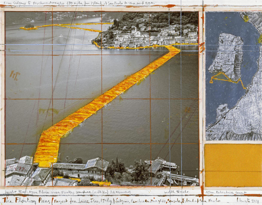 Collage of The Floating Piers , Christo