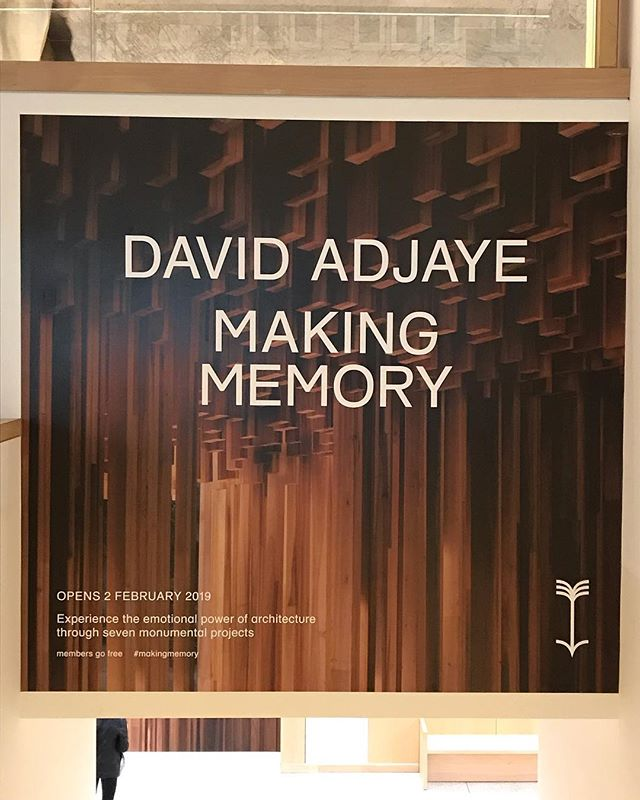 Saw the David Adjaye exhibit at the Design Museum in Kensington yesterday - so many really moving projects with some video commentaries by the architect. Pop on over when you're in town.