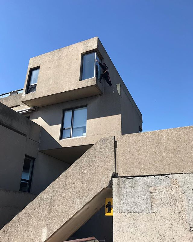 Have to add this to the list of jobs I will never have... #habitat67 #moshesafdie #montreal #architecture #modular #prefab #oldschool #brutalism