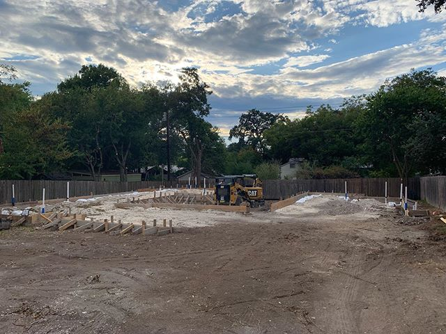 New residence just starting to come out of the ground in south Austin... this can be the before shot.
