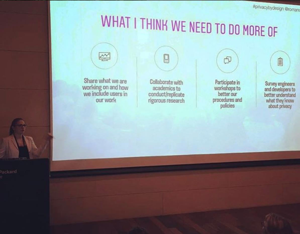 Speaking at the Privacy by Design workshop, Tel Aviv Israel, 2017