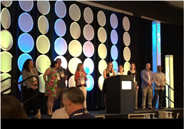 The UXPA 2016 Board, on stage at the annual UXPA conference, Seattle WA, 2016.