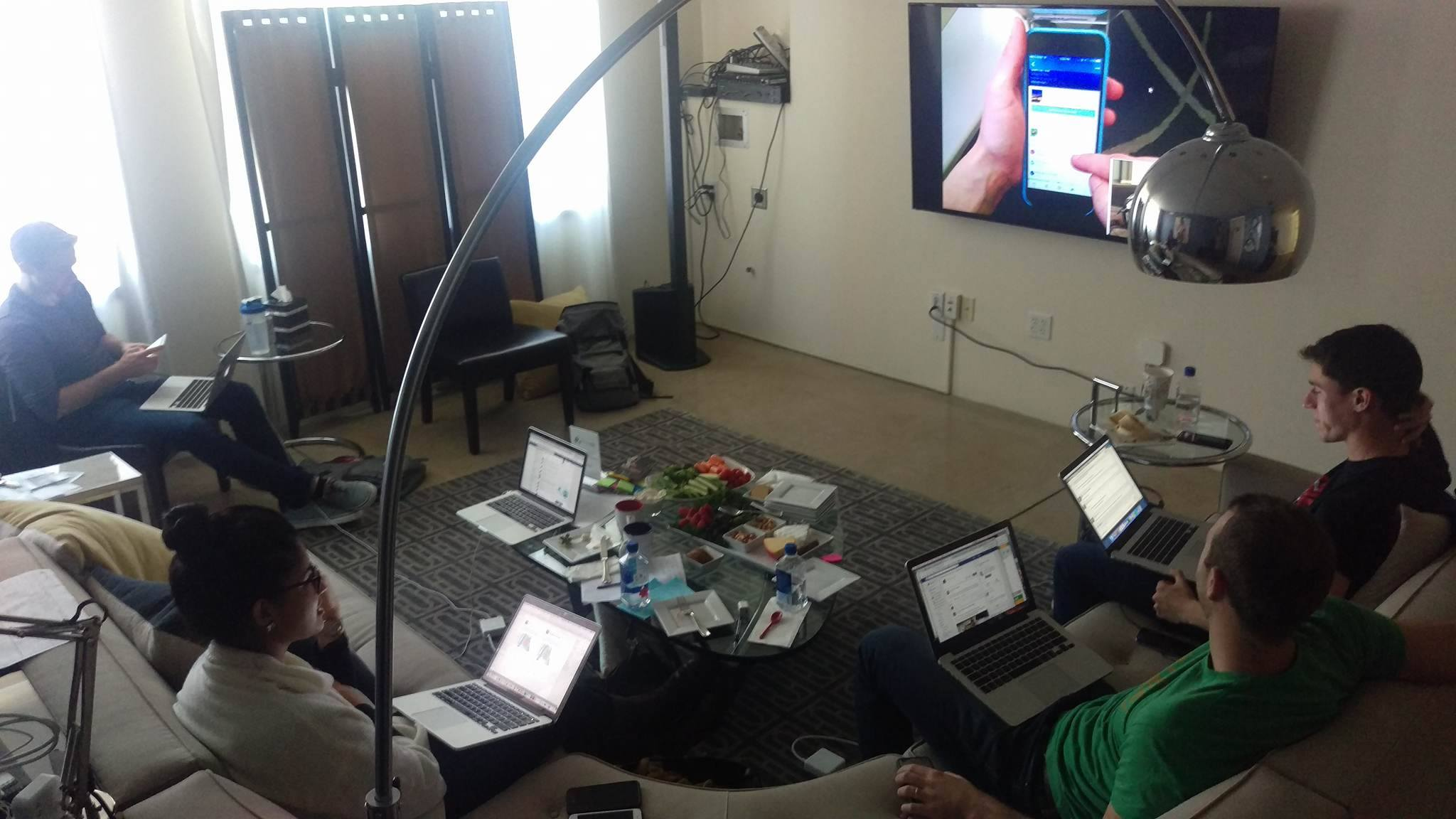 The product team observes UX sessions from the Observation Room.