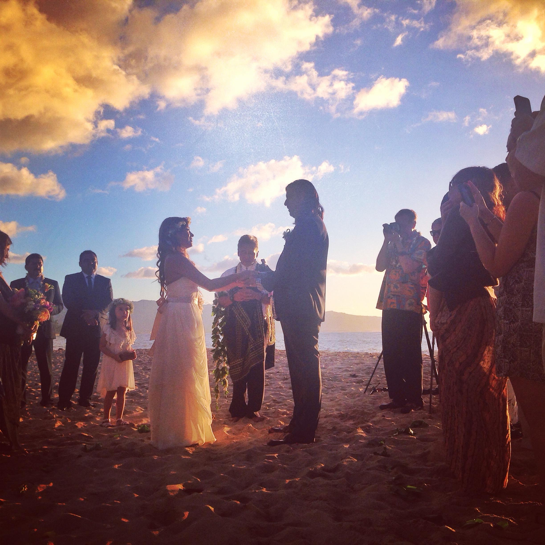 oahu-sunset-beach-ceremony