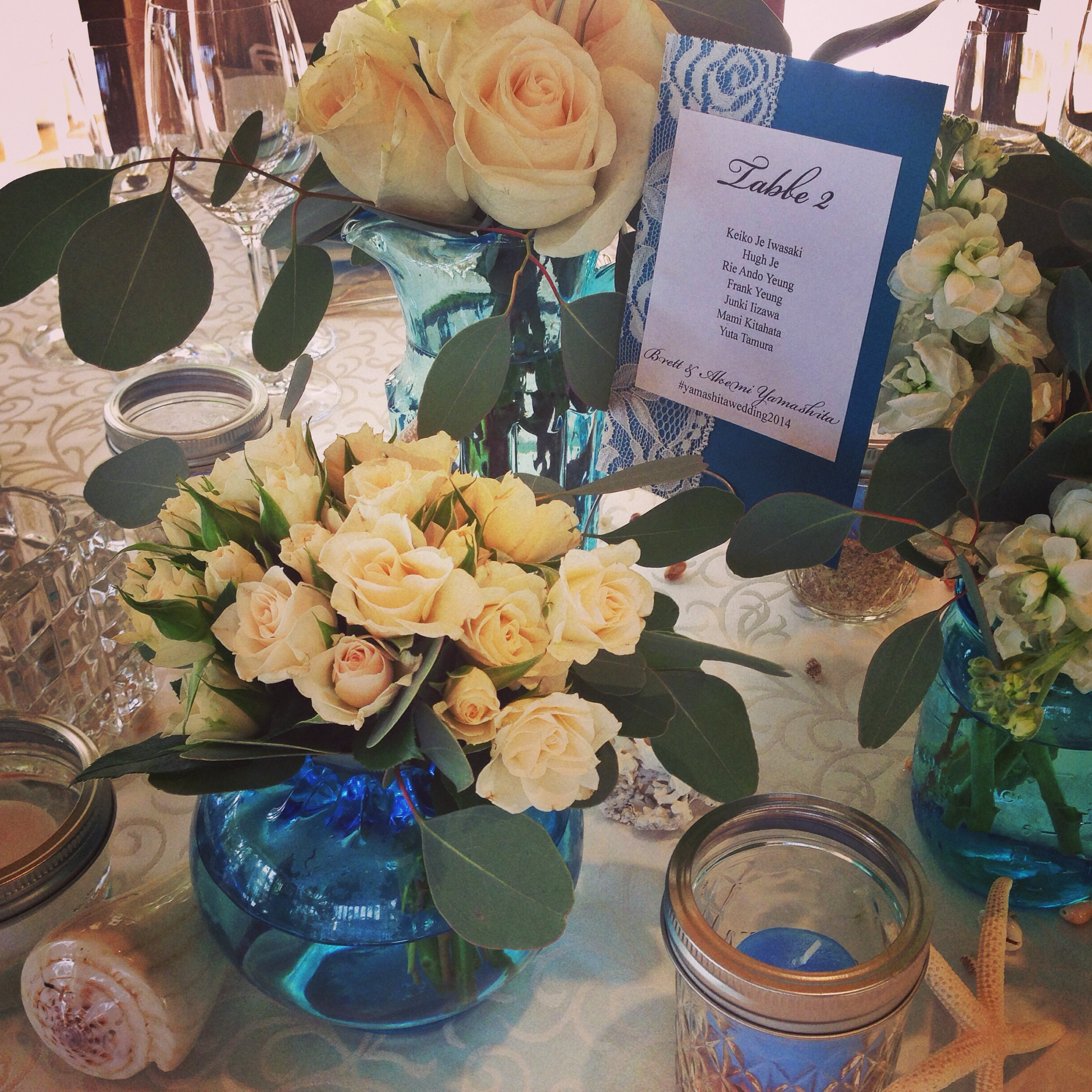 halekulani-wedding-reception-sea-blue-theme-decorations