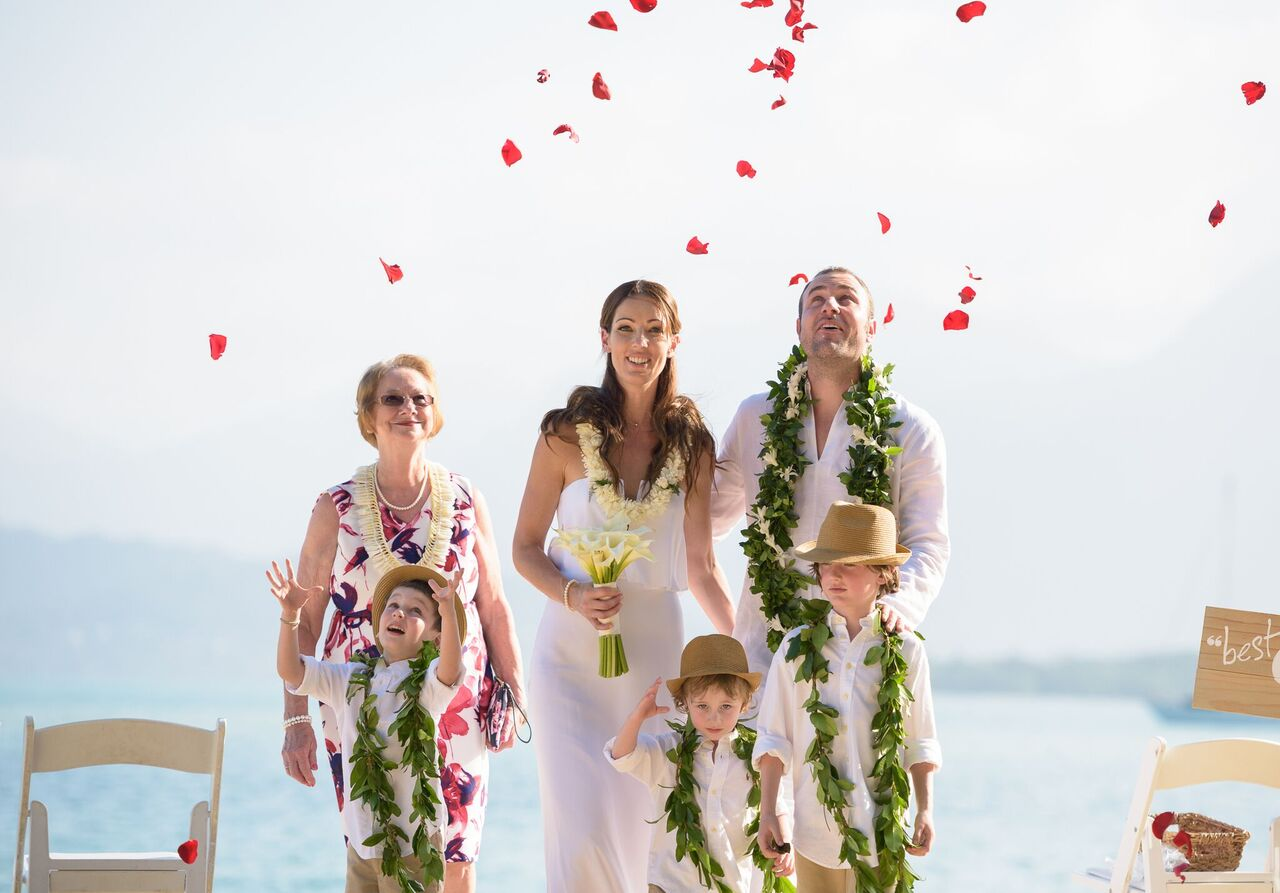 secret island wedding