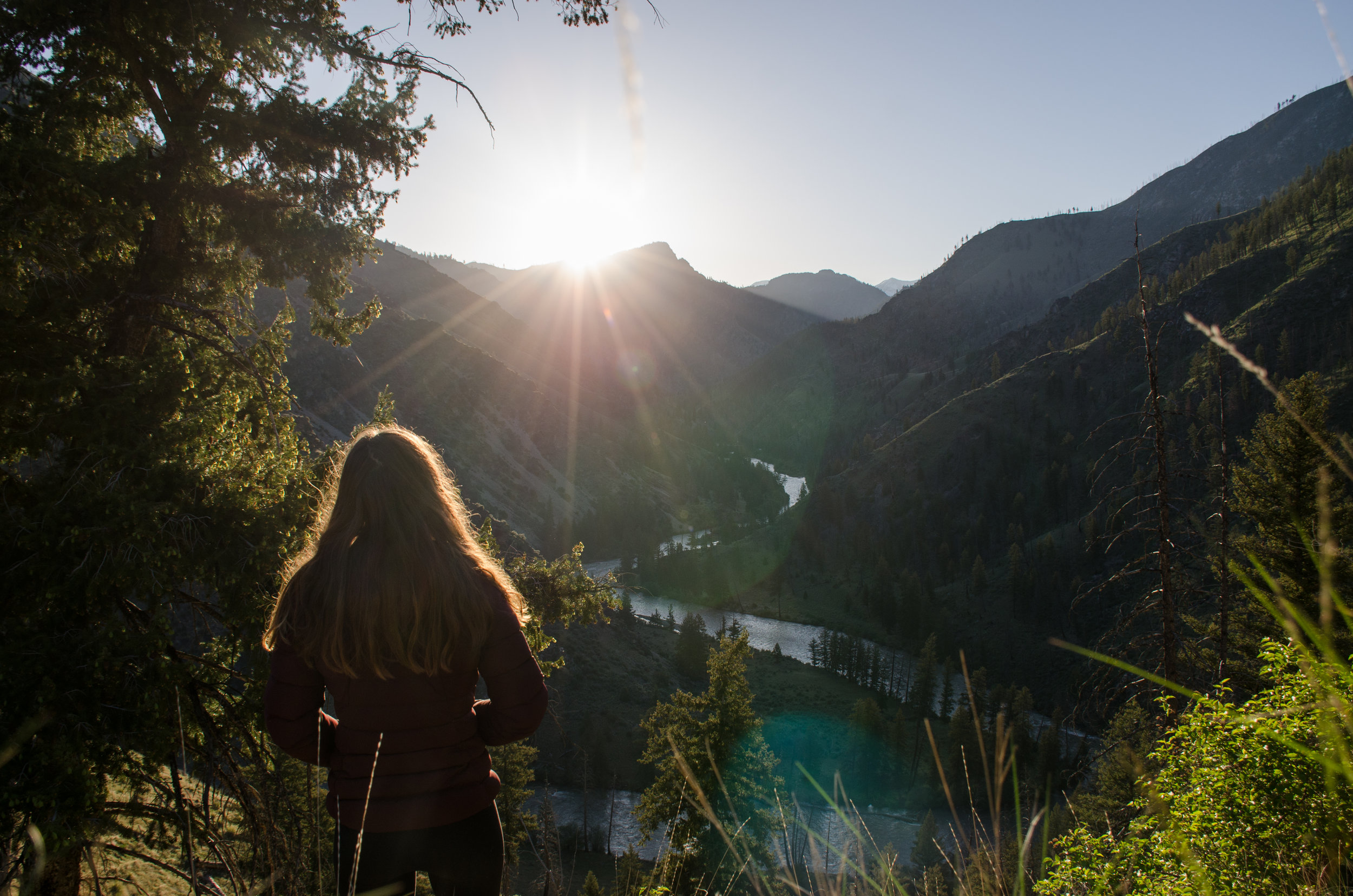 Watching sunrise in the Frank Church-River of No Return Wilderness