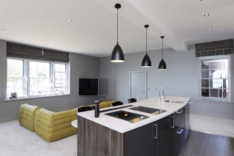 High quality interior design is incorporated throughout the scheme.