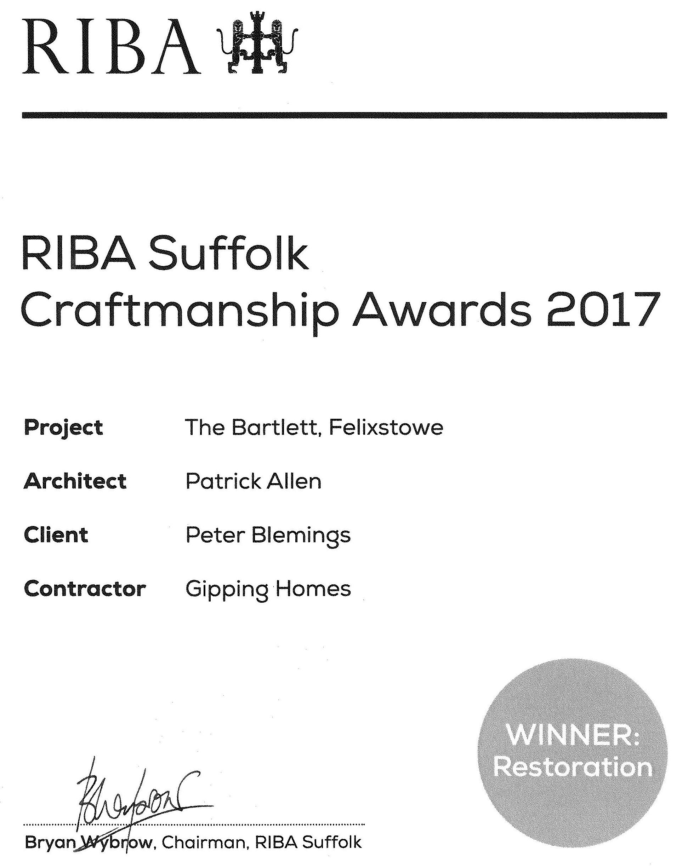 Craftmanship certificate