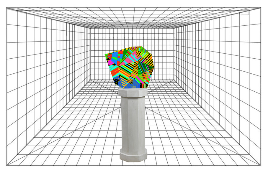 An event/object sitting on a pedestal in dimensional space.