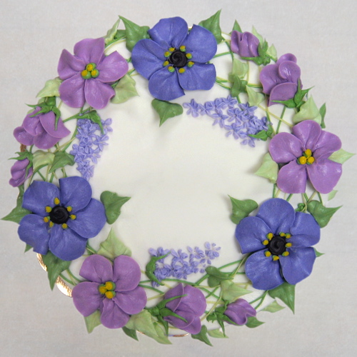 Floral Wreath in blues