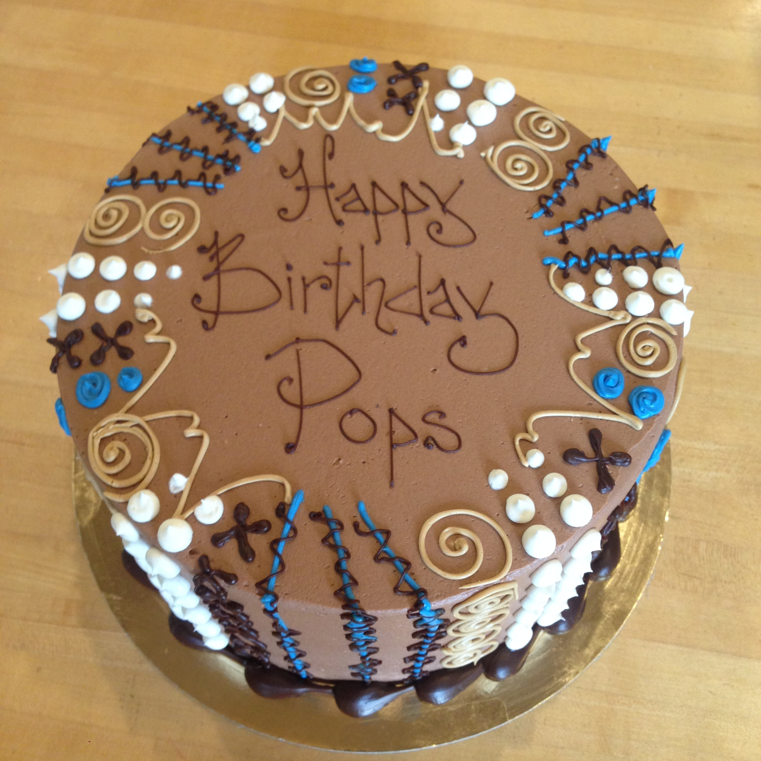 Abstract in blue and mocha on chocolate | pops