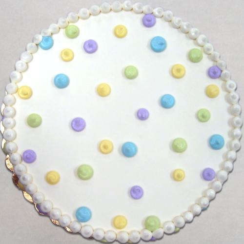 Abstract pastel polka dots