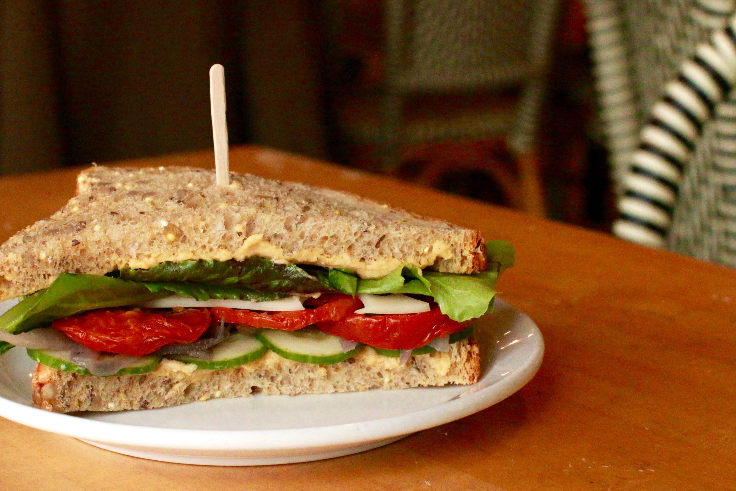 Veggie Sunflower Sandwich