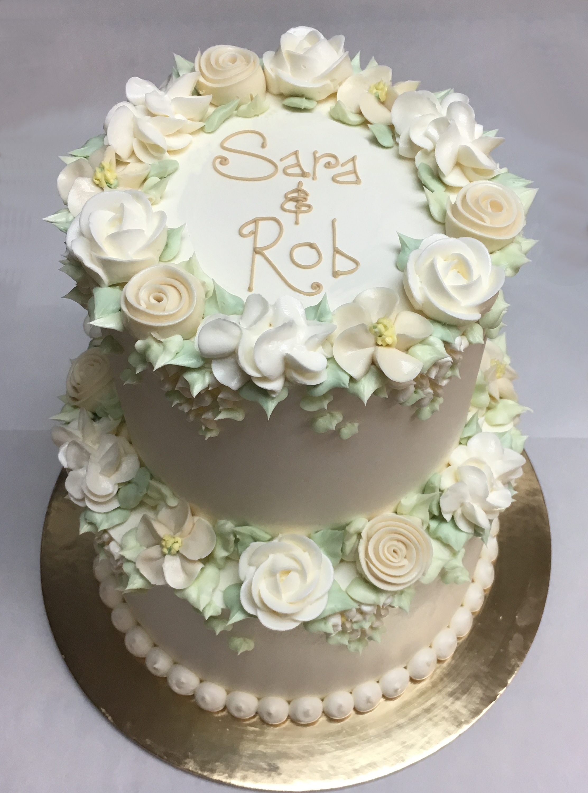 """Stacked White and Ivory, 6"""" + 8"""""""
