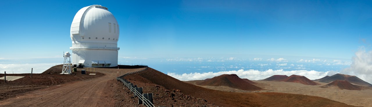 Astronomical observatories on Mauna Kea volcano's summit
