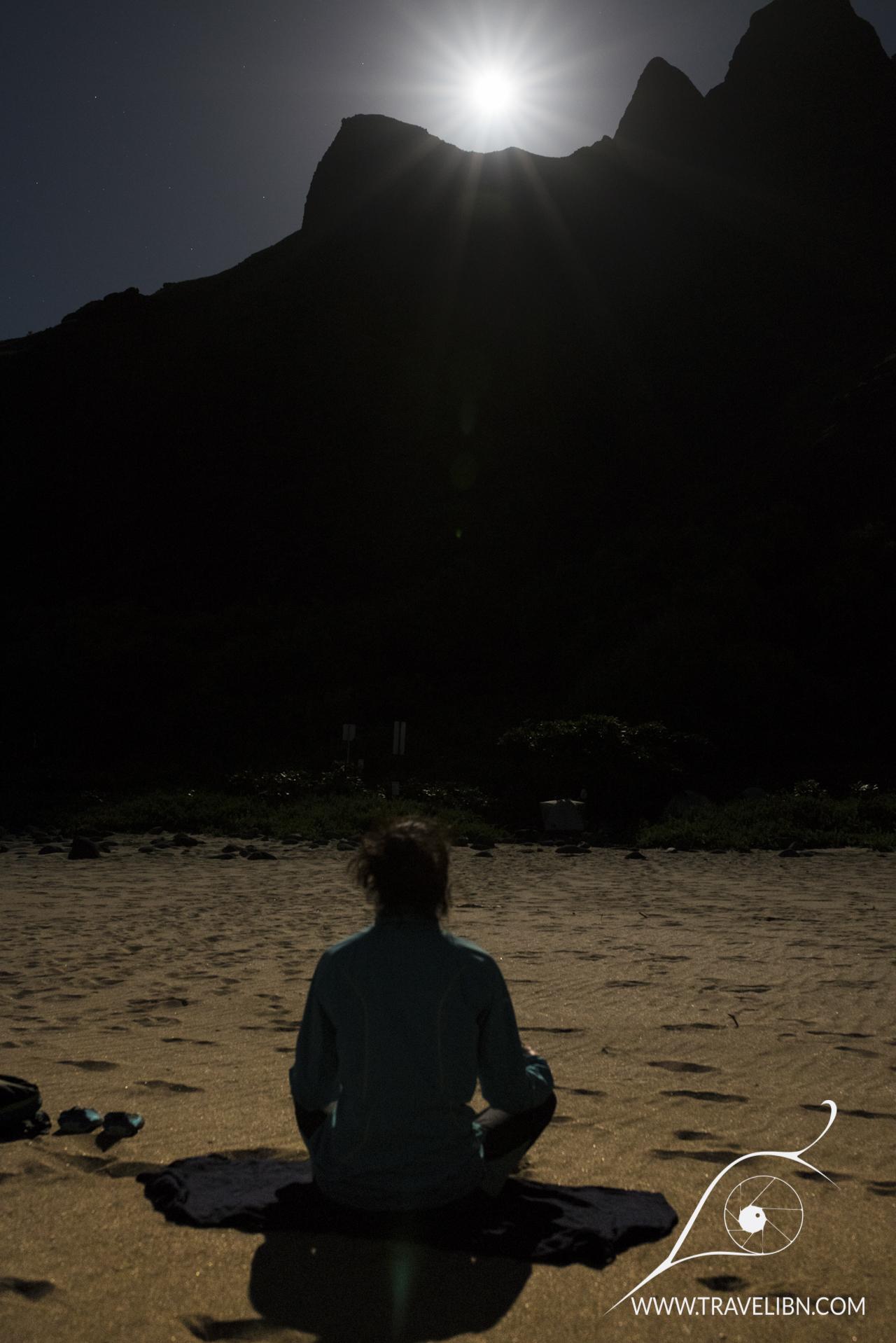 Full moon on Kalalau Beach