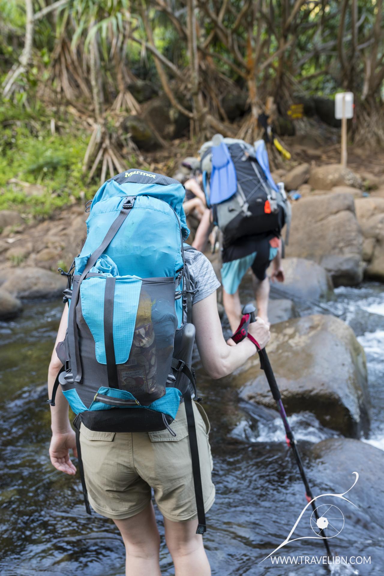 Hanakapiai Stream crossing