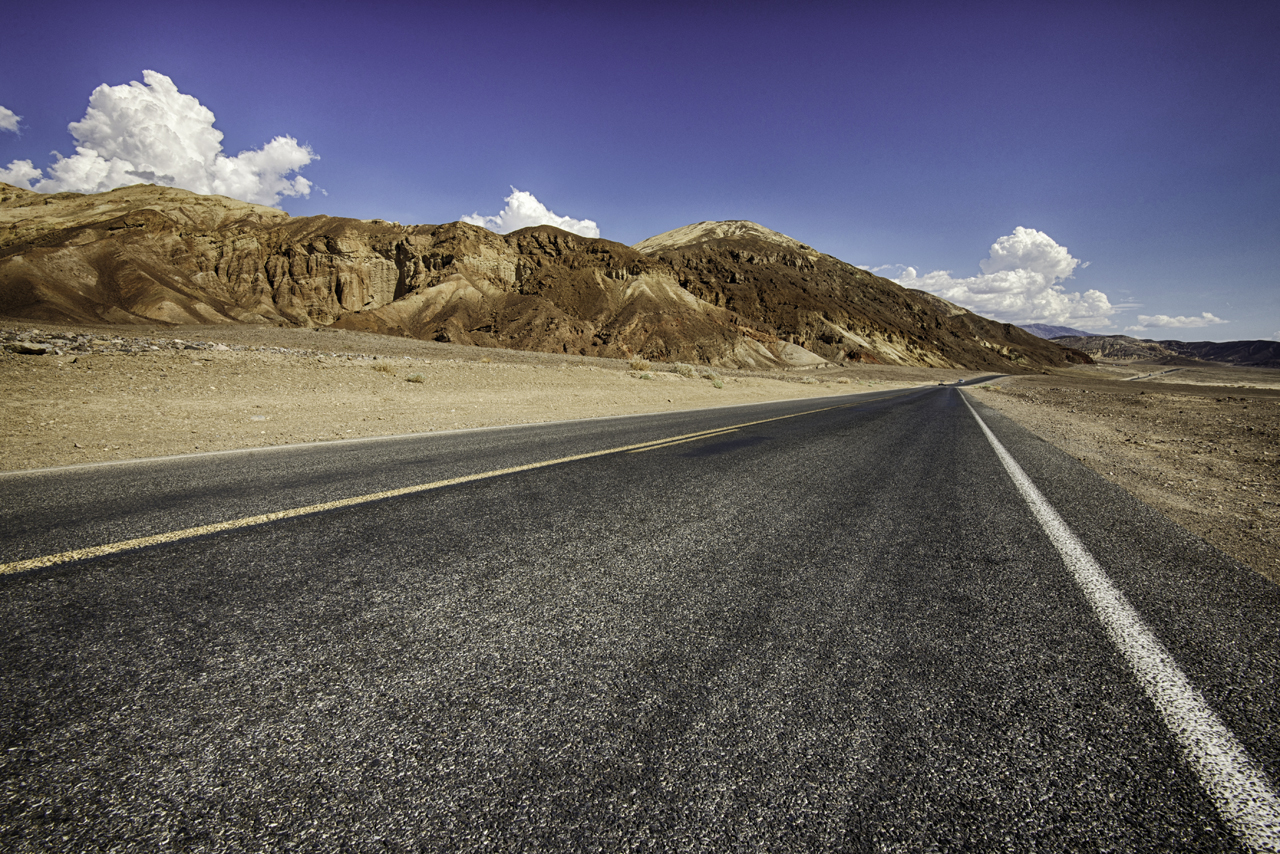Route through Death Valley