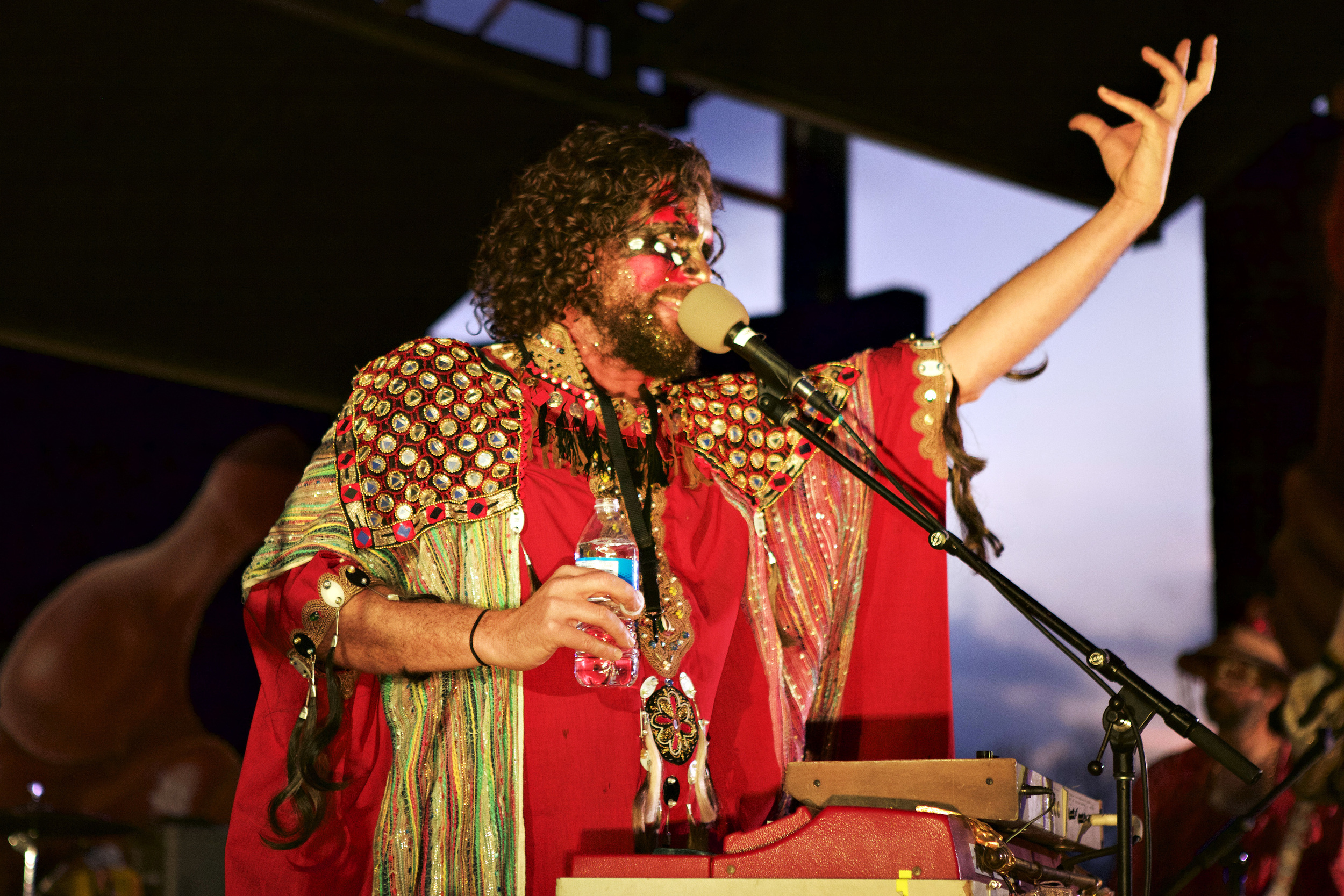 The Golden Dawn Arkestra performs at Pan Am Park during MapJam.   Photo by Sarah Jasmine Montgomery