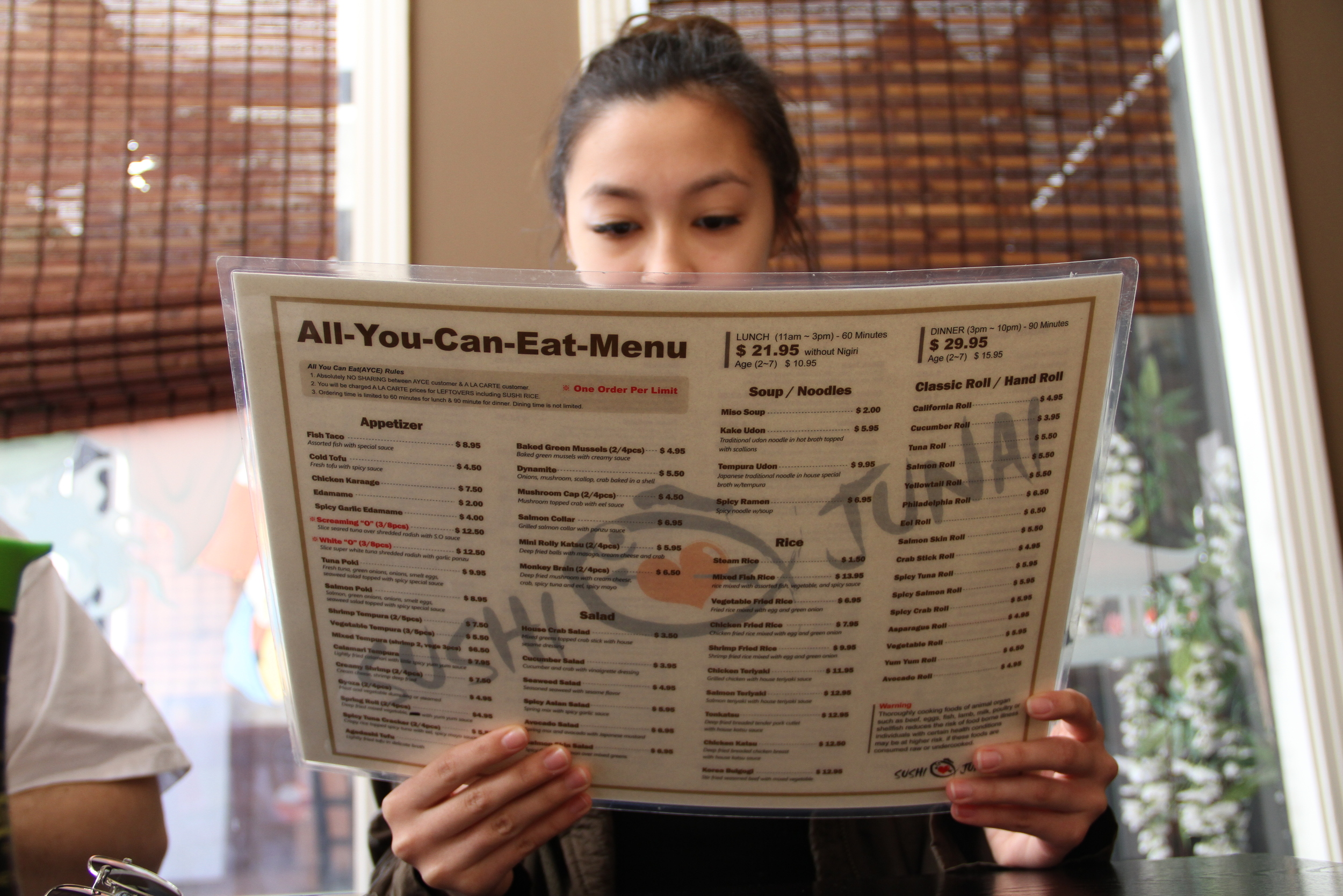 The expansive All-You-Can-Eat menu offers customers a lot of options.
