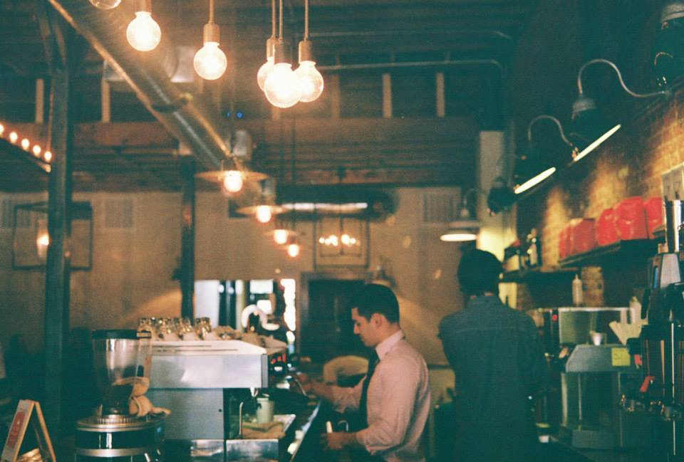 Listening to the buzzing sounds and voices in West Oak Coffee bar in Denton is the perfect pick-me-up.    Photo by Kristen Hubby