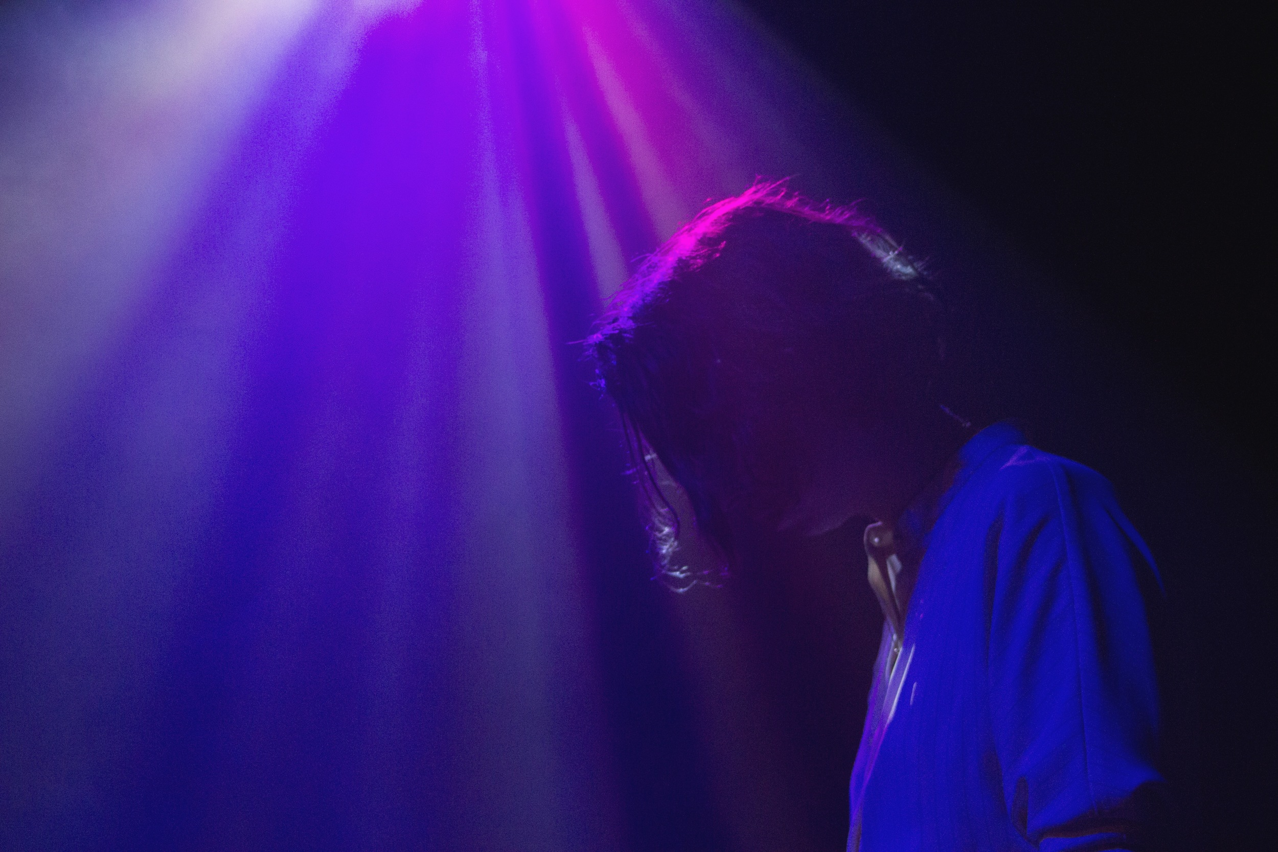 Singer of Irish indie band Little Green Cars, Faye O'Rourke, takes a pause from her time at the mic during the band's first headliner tour on Tuesday, April 12, at The Parish.    Photo by Miranda Chiechi