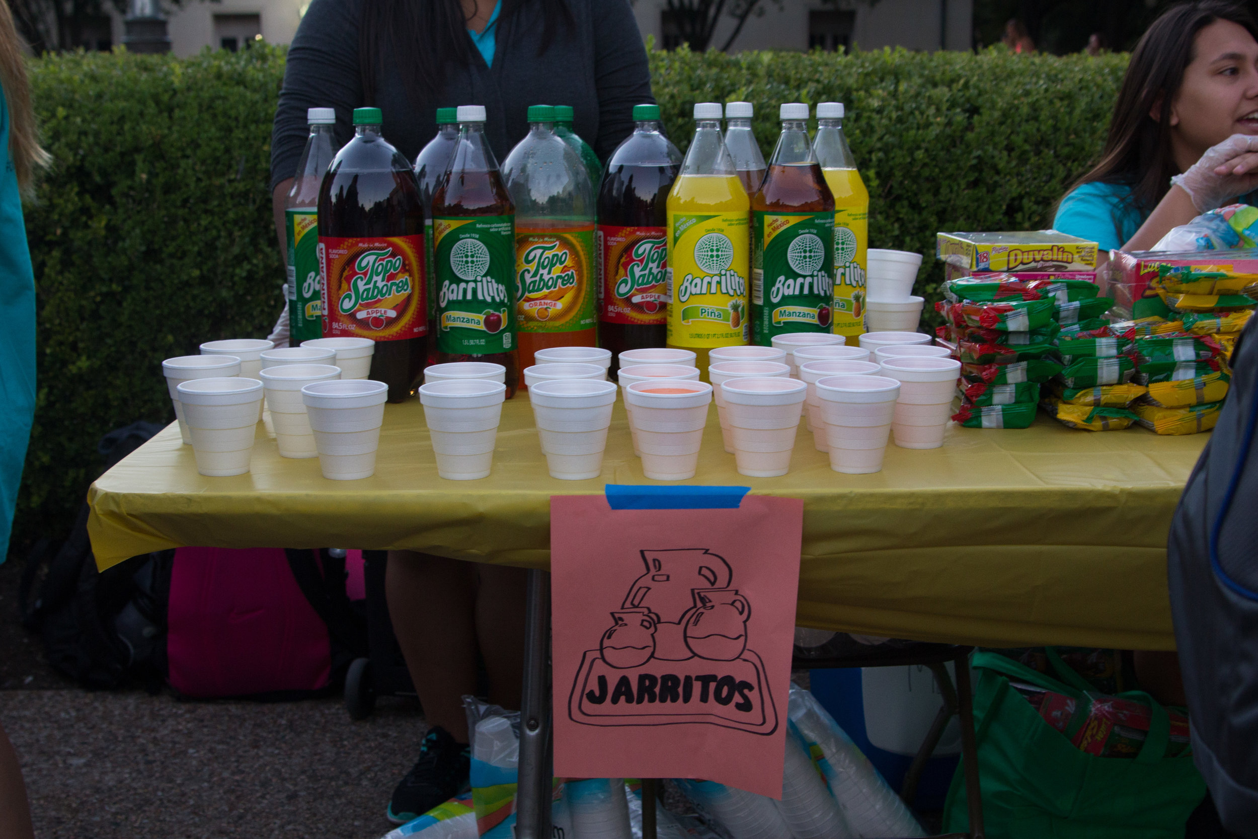 Churros, Mexican candy, and Jarritos were offered for students who completed their Try Culture Passports.