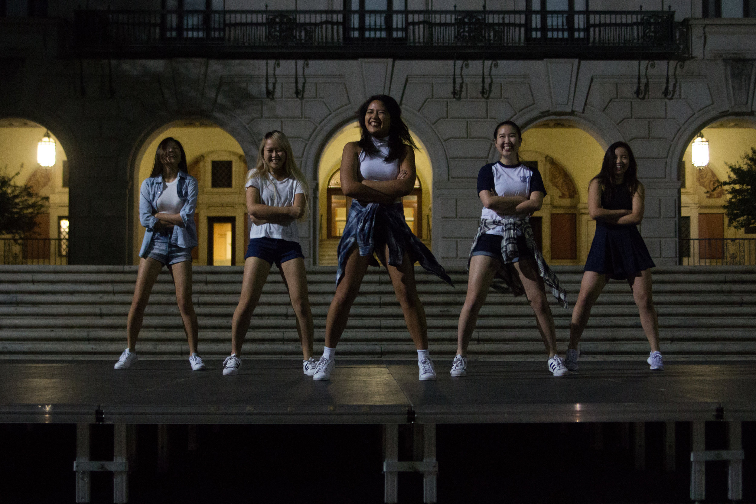 The Korean Dance Crew combined Korean Pop and hip-hop dance moves to create a fun and energetic performance.