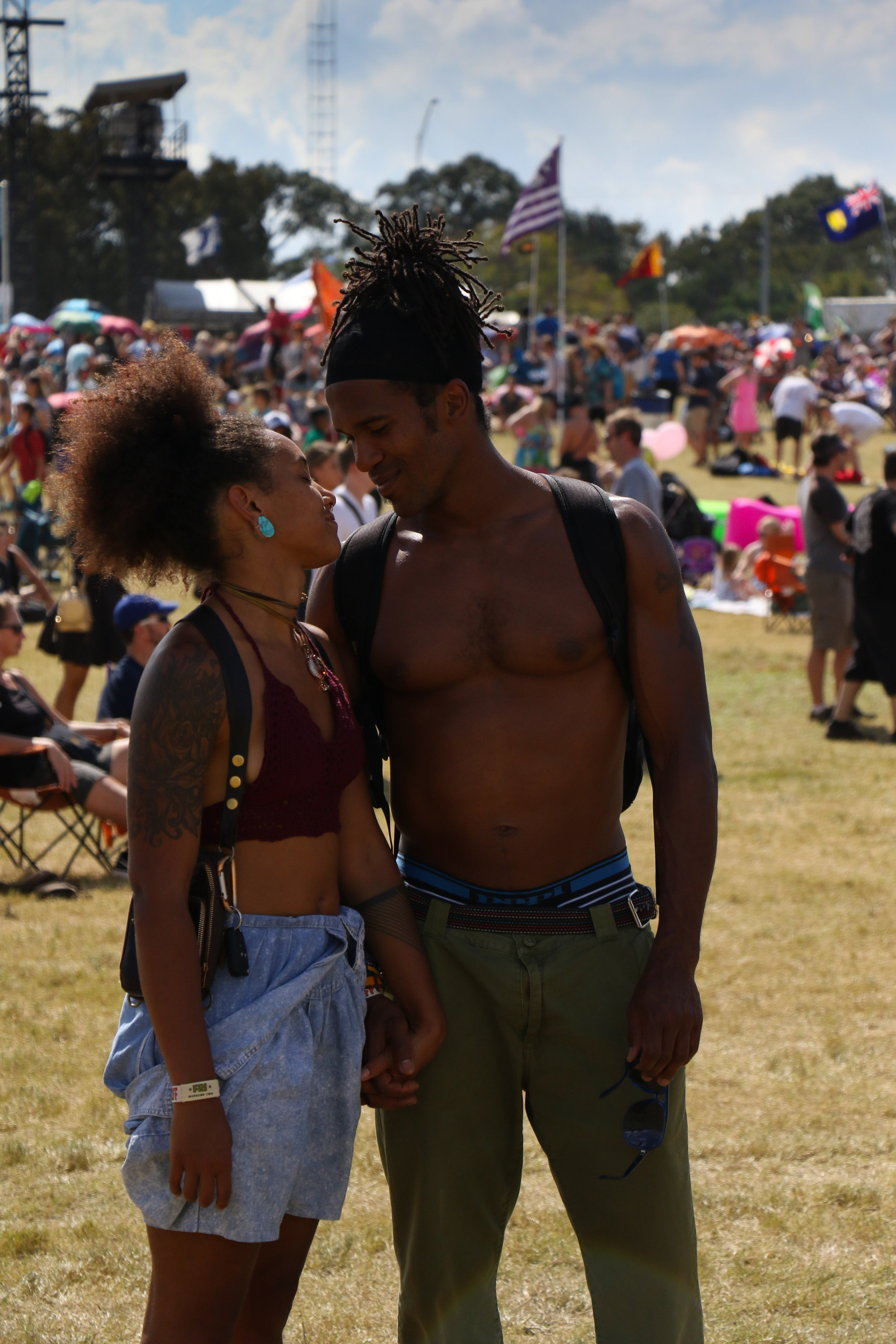 An ACL couple are captured in this sweet moment at Zilker.