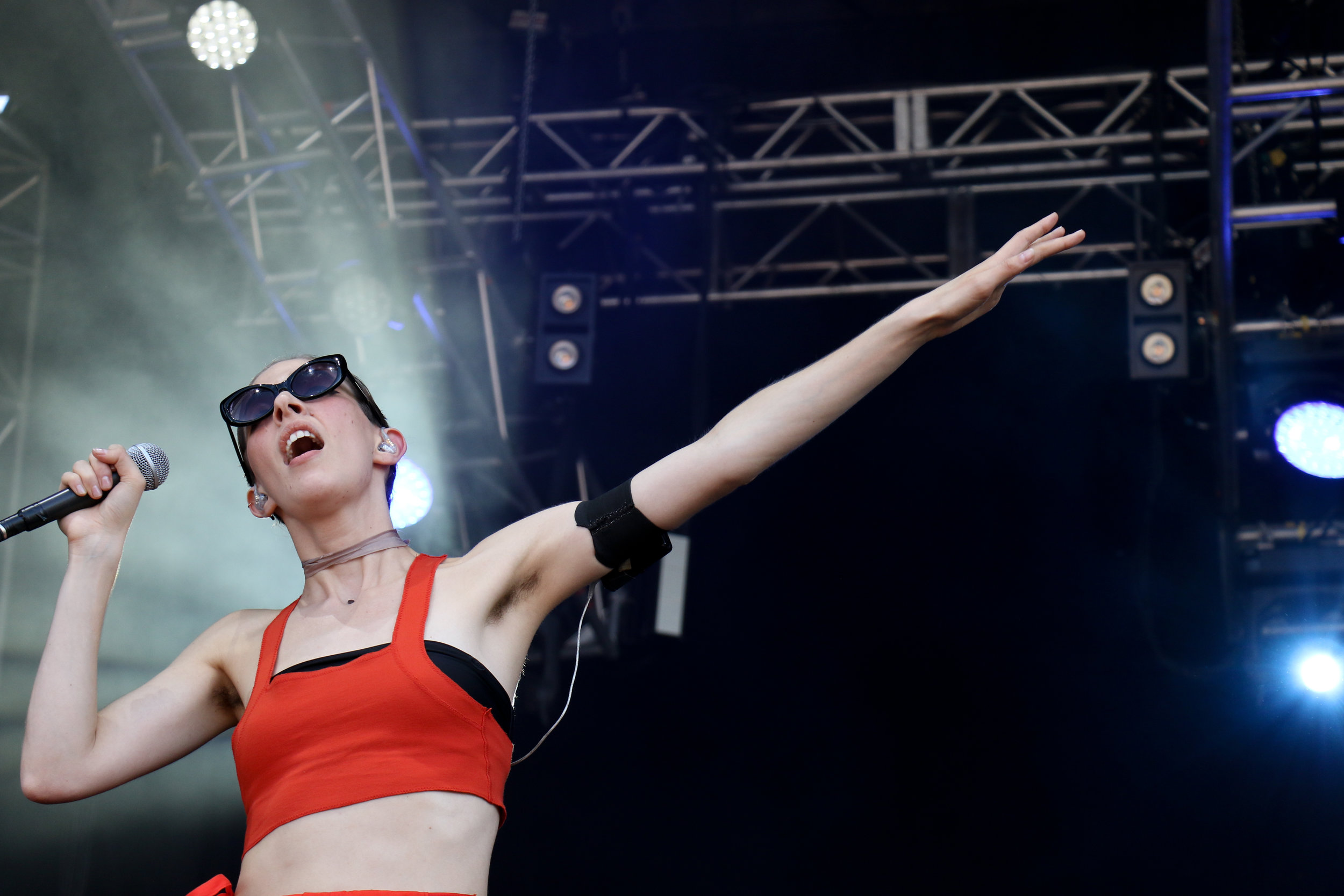Chairlift puts on a breathtaking show Friday of ACL.