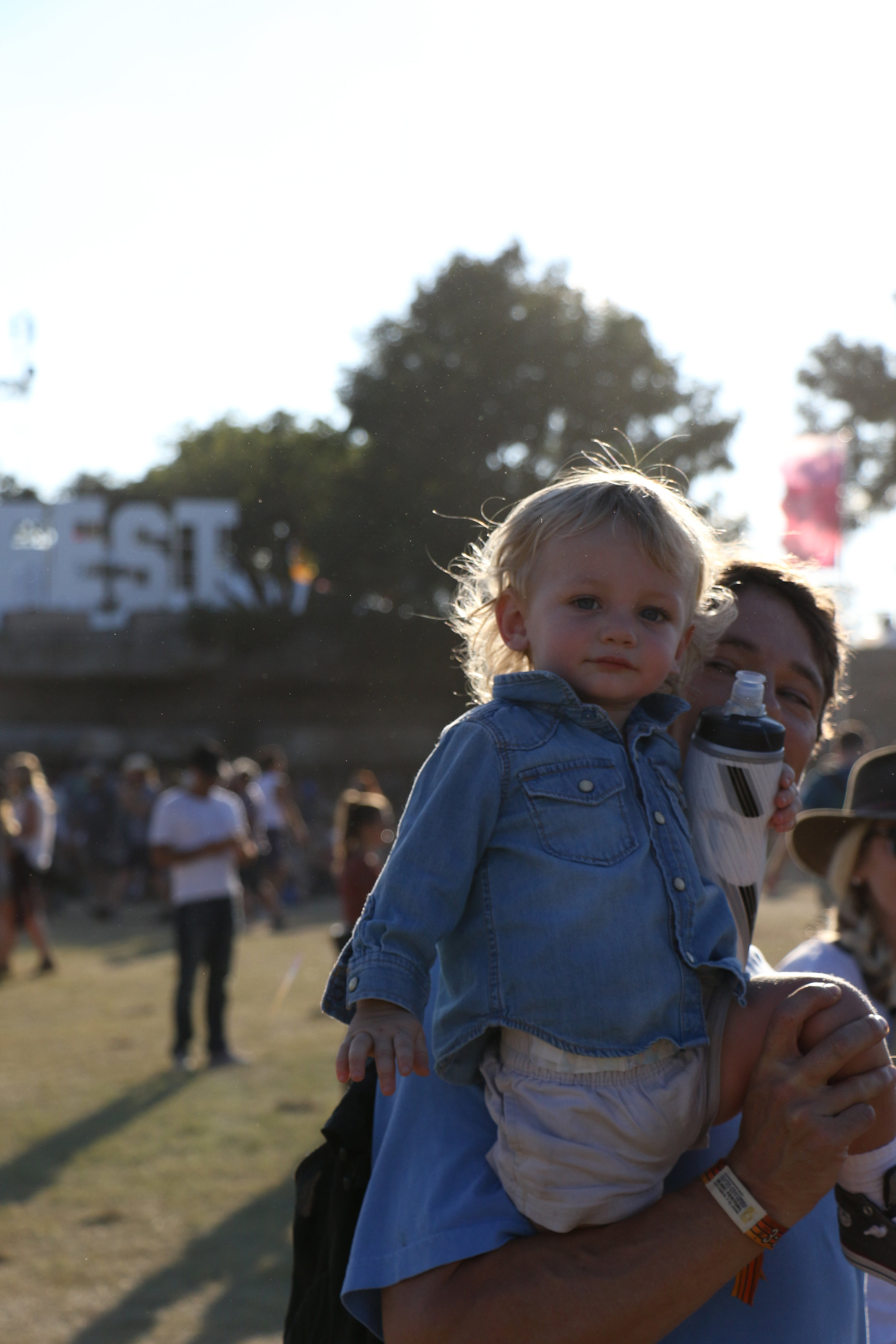 Festival fashion is styled by all, even the youngest of fans.