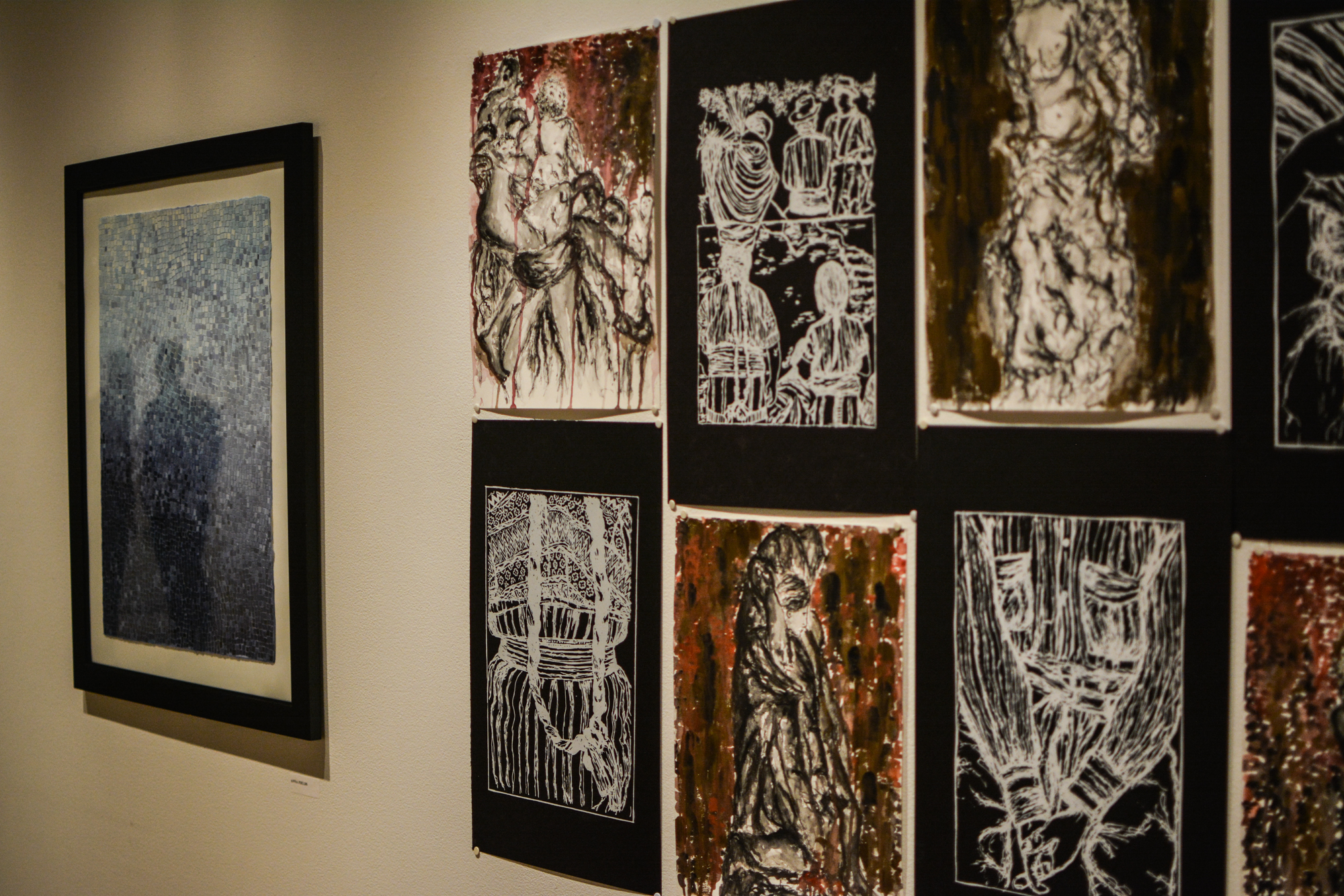 The Study Abroad Art Show pieces displayed at the Visual Art Center on campus were made during the students' six week stay in Italy studying the rich tradition of ornamentation and decoration.