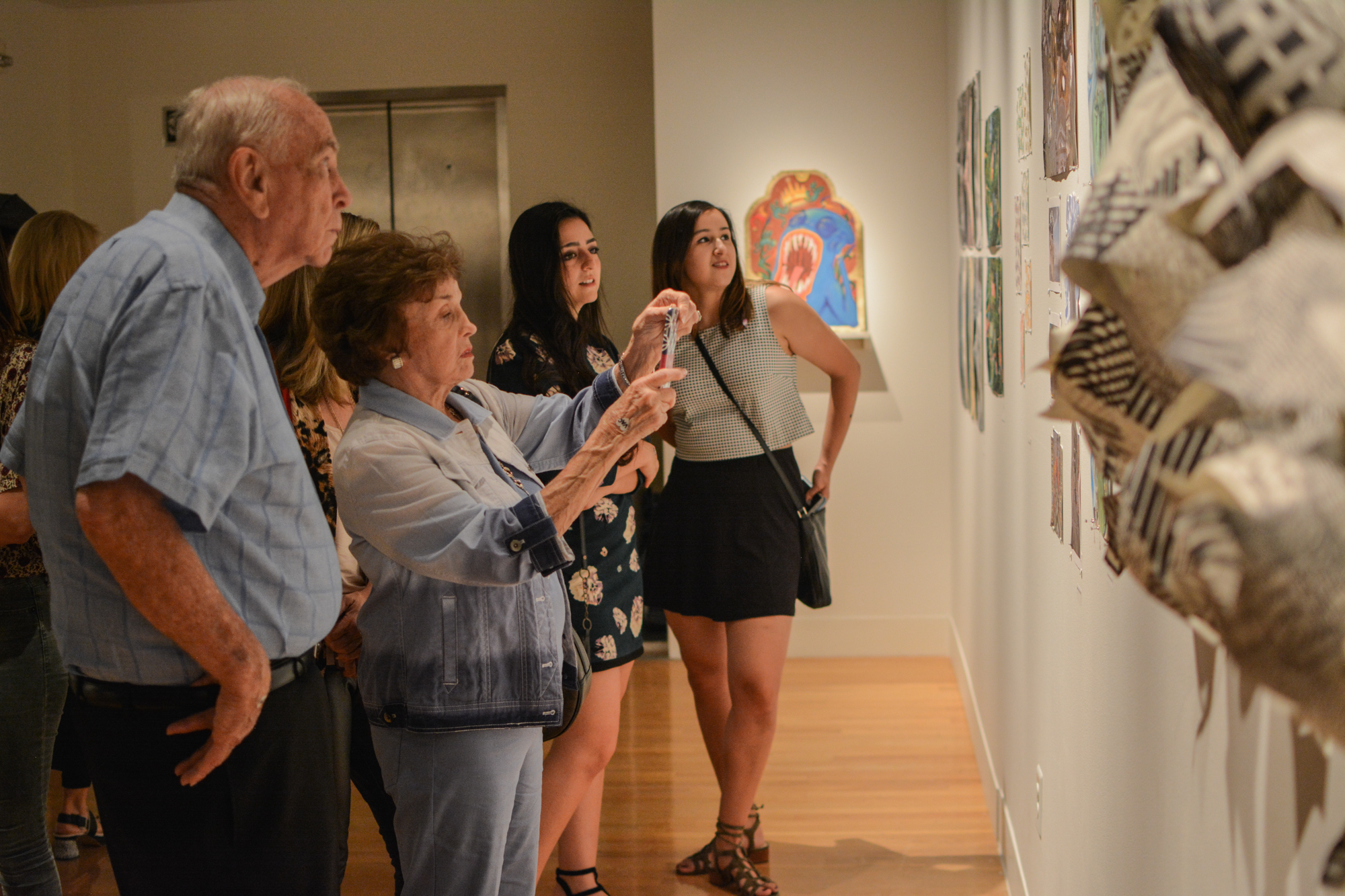 Some relatives of the artists were present and showcased their pride.