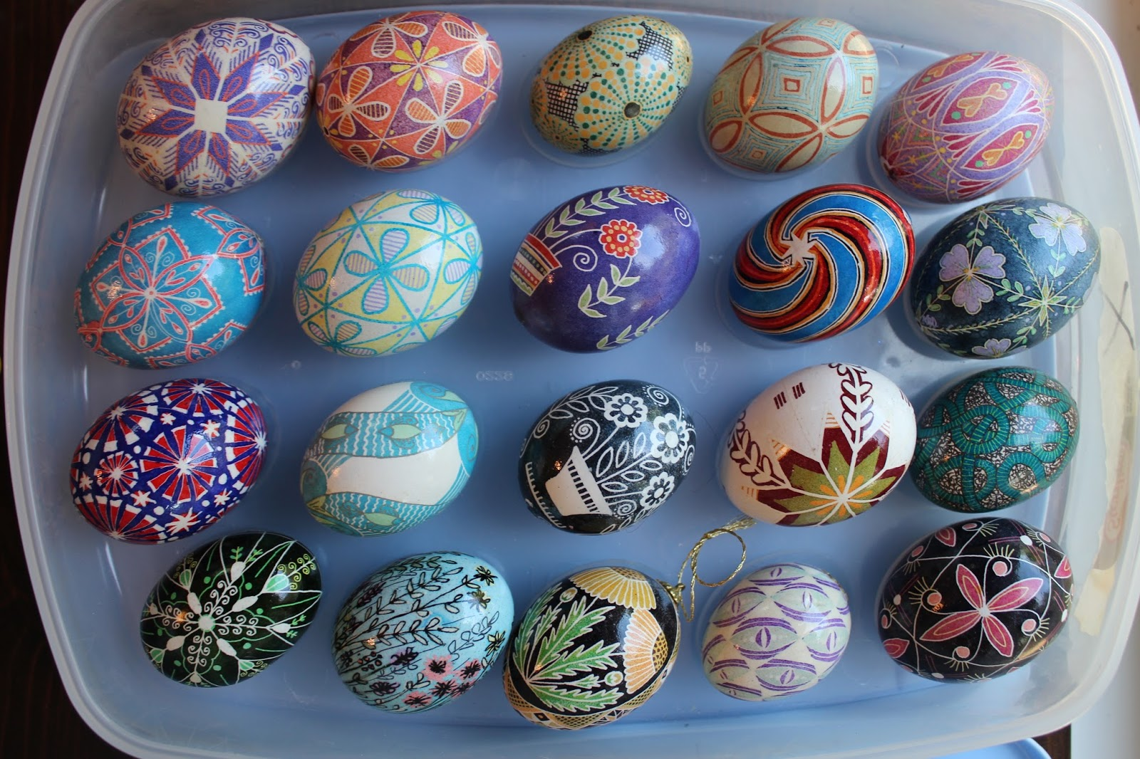 Real eggs, delicately painted one by one.
