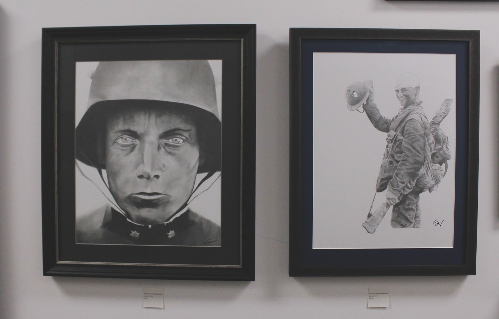 Steven's work is inspired by war stories and veterans.