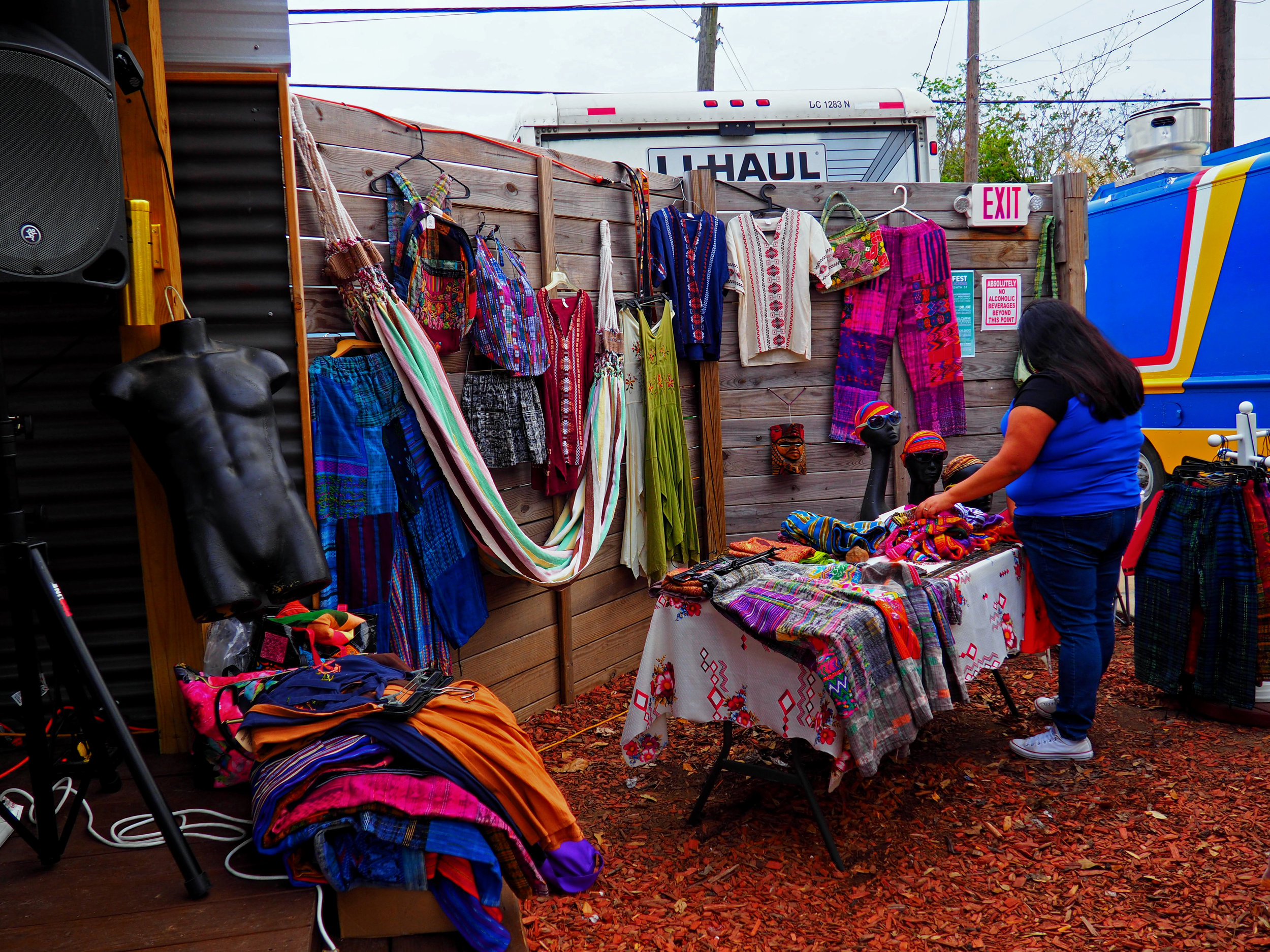 Hand-crafted goods for sale.