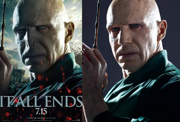 Lord Voldemort's nose was digitally removed with computer-generated imagery for the Harry Potter films. Photo courtesy of Voolas.