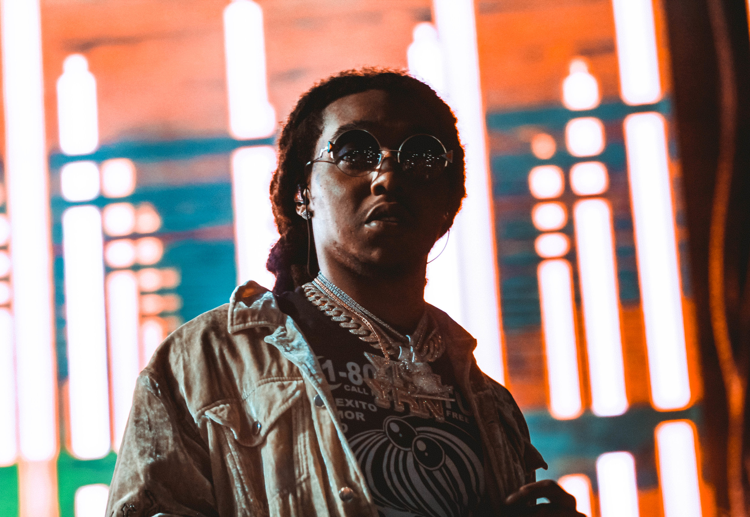 Takeoff stares at the massive crowd that showed up for Migos.