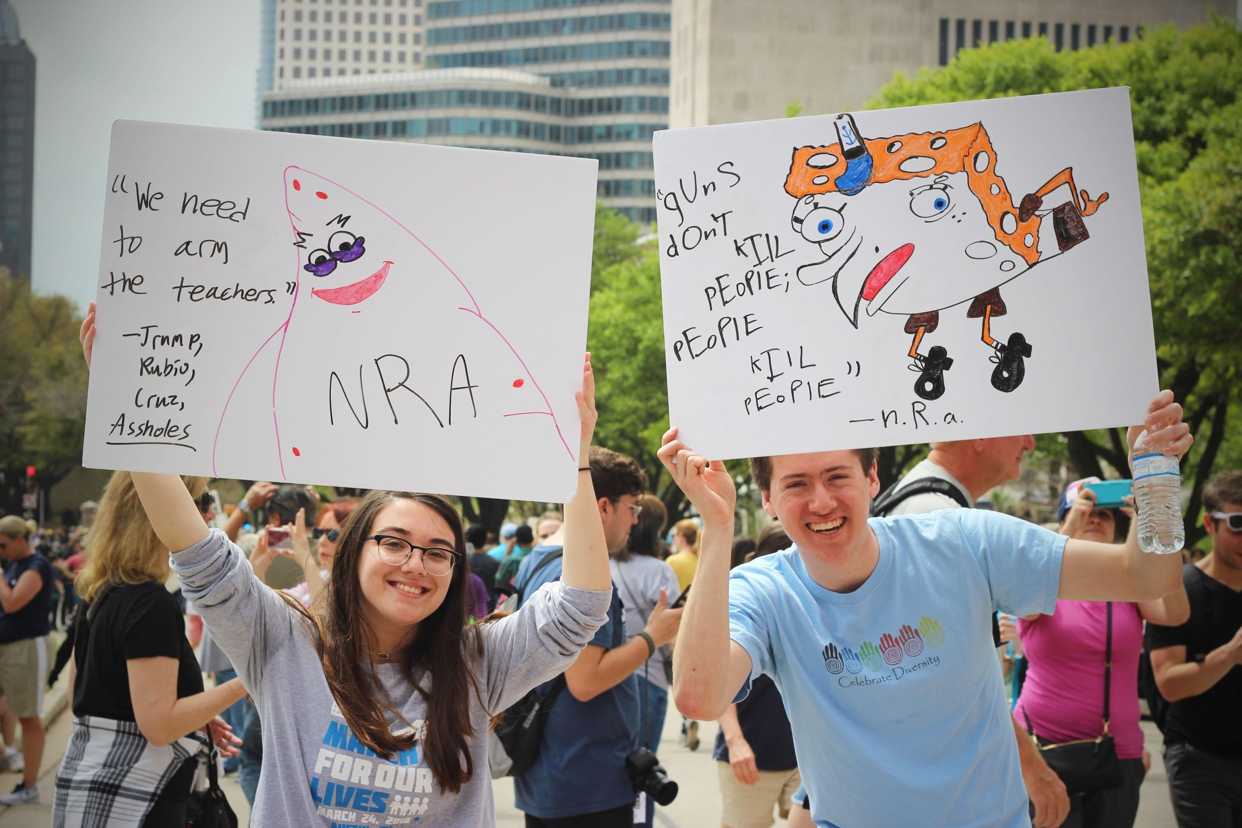 UT students send a message based off of memes to the NRA.