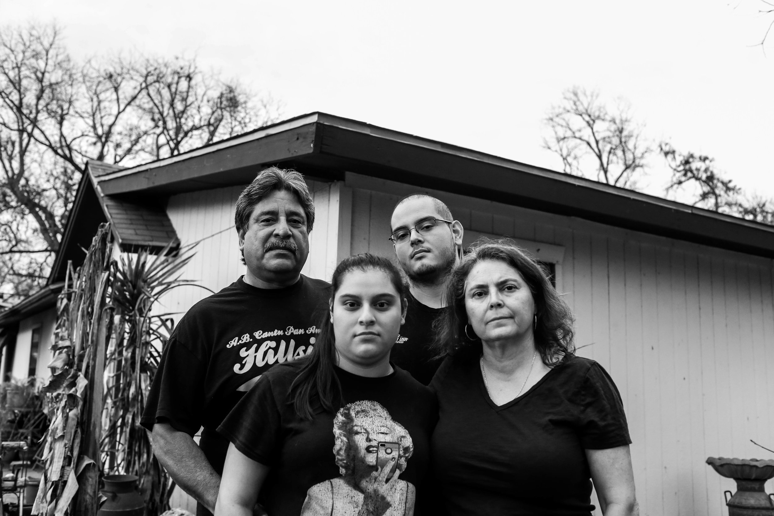 Jesse Cortez (upper left) and his family now reside in the house of his late grandparents, who have owned the lot for more than 90 years.