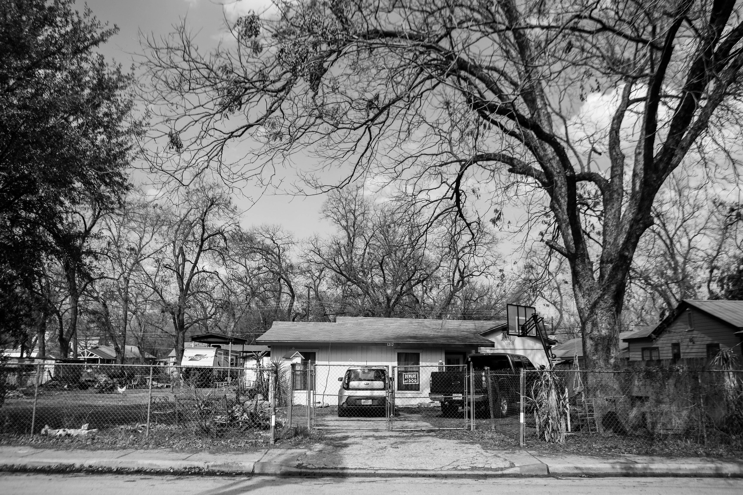The Cortez household overlooks the neighboring houses and buildings that have since changed in familiarity for East Austin residents such as Jesse Cortez and his family.