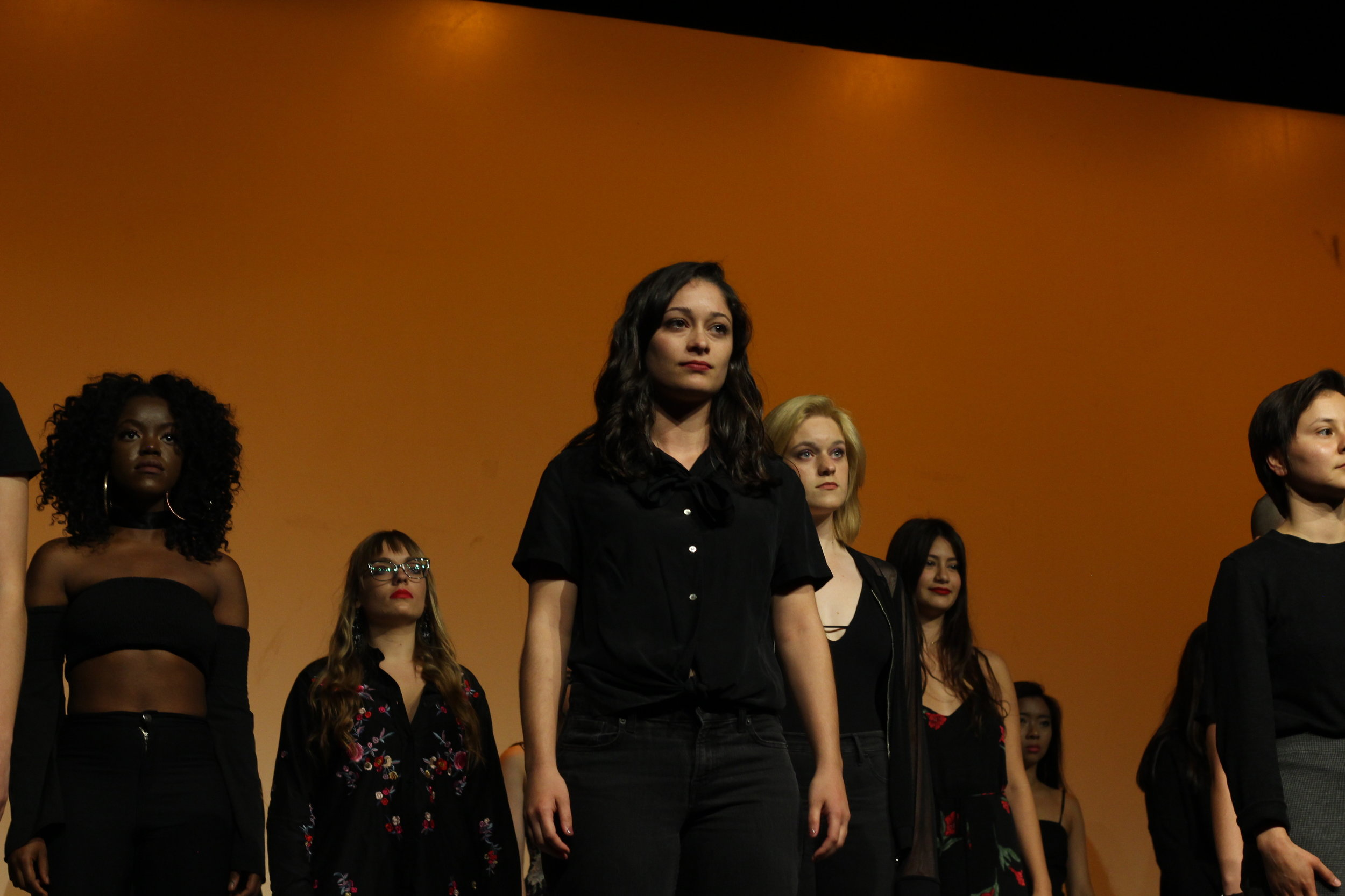 From left to right: Siji Deleawe, Jada Fraser, Liz Schasel, Alexandria Wagner, Emily Mackay, Paulina Kuo and Lily Gonzales