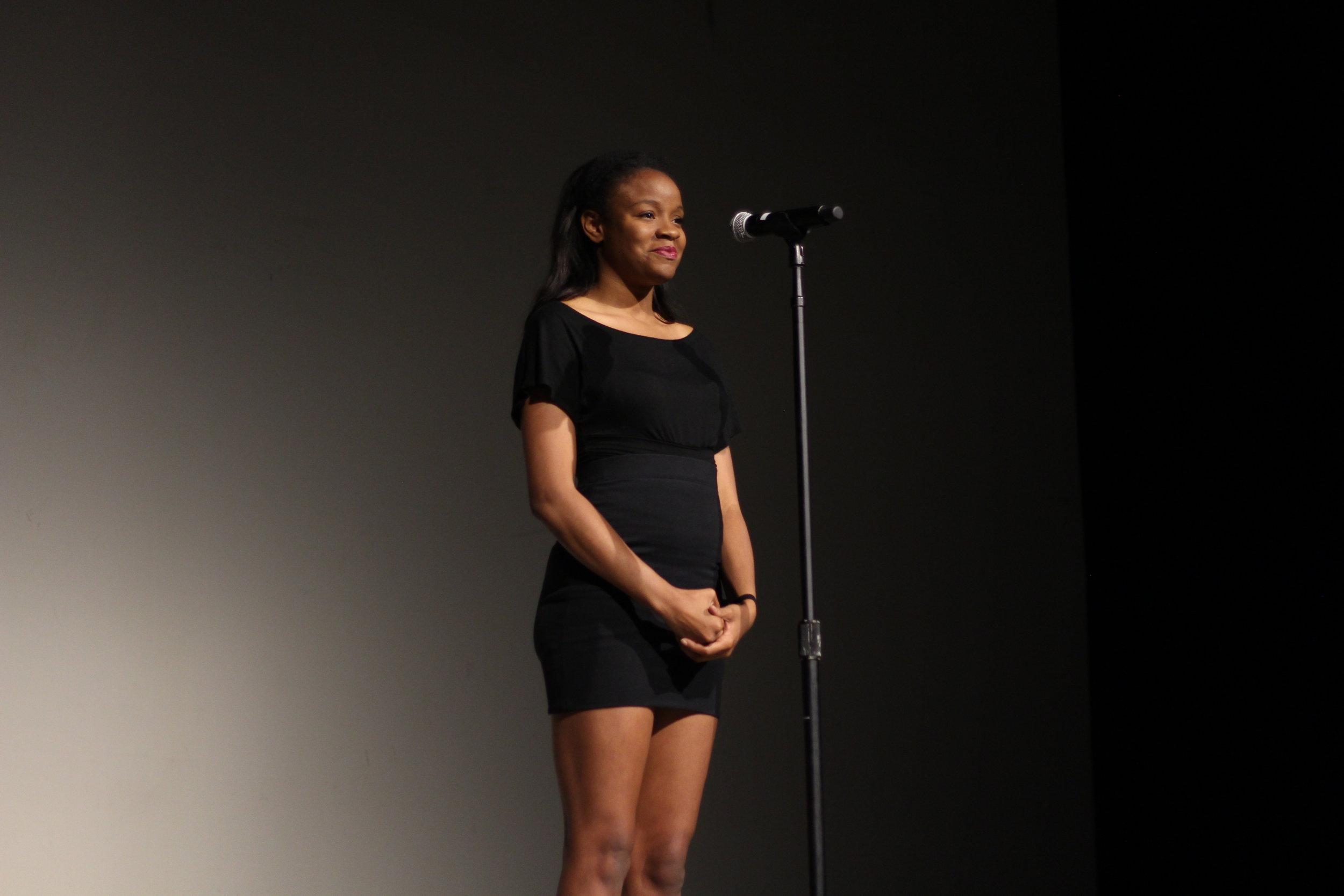 Kelly Nwonuma performs a monologue written by Lauren Bell.