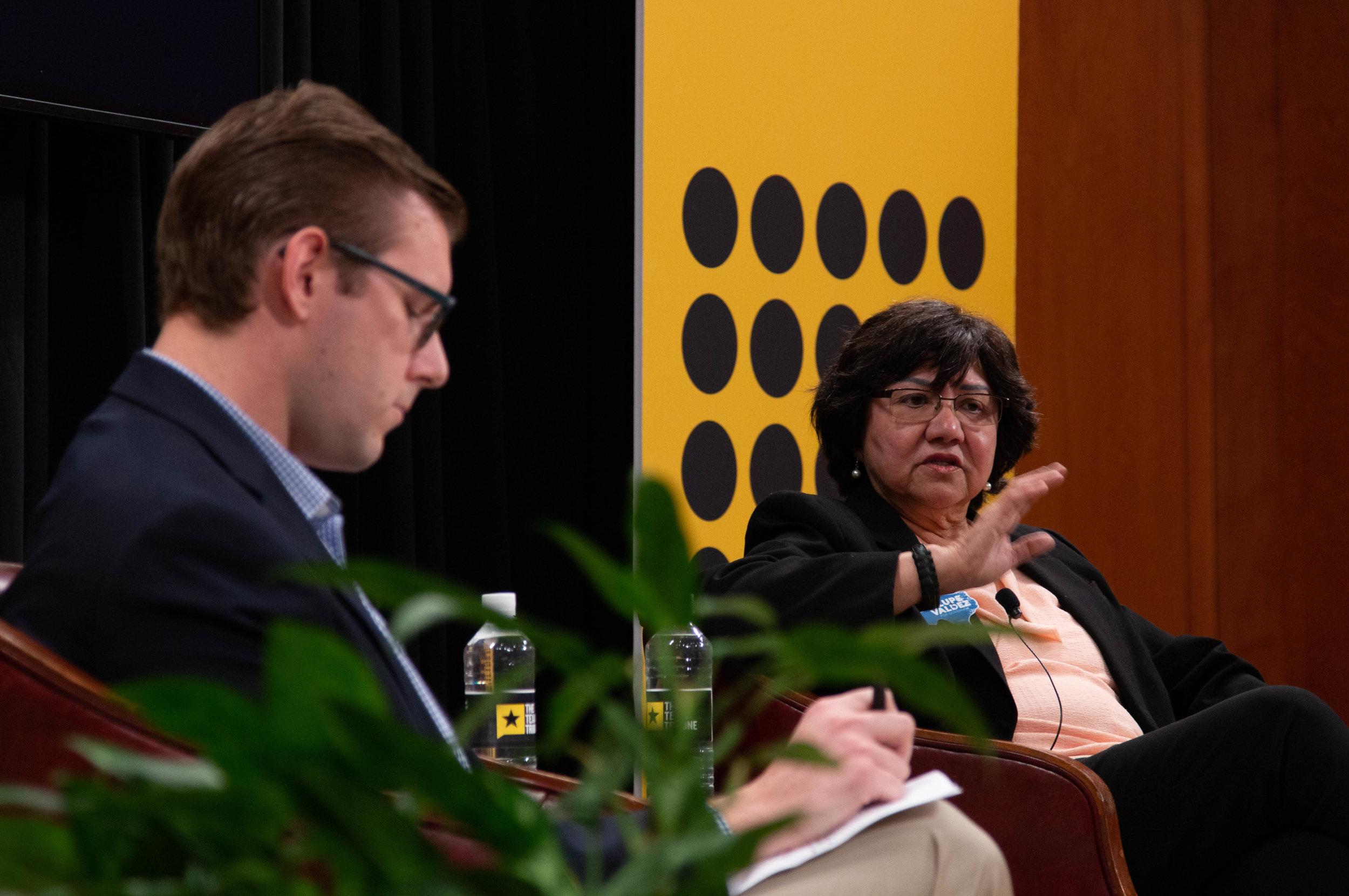 Texas Tribune journalist Patrick Svitek moderated a one-on-one with Democratic gubernatorial nominee Lupe Valdez.