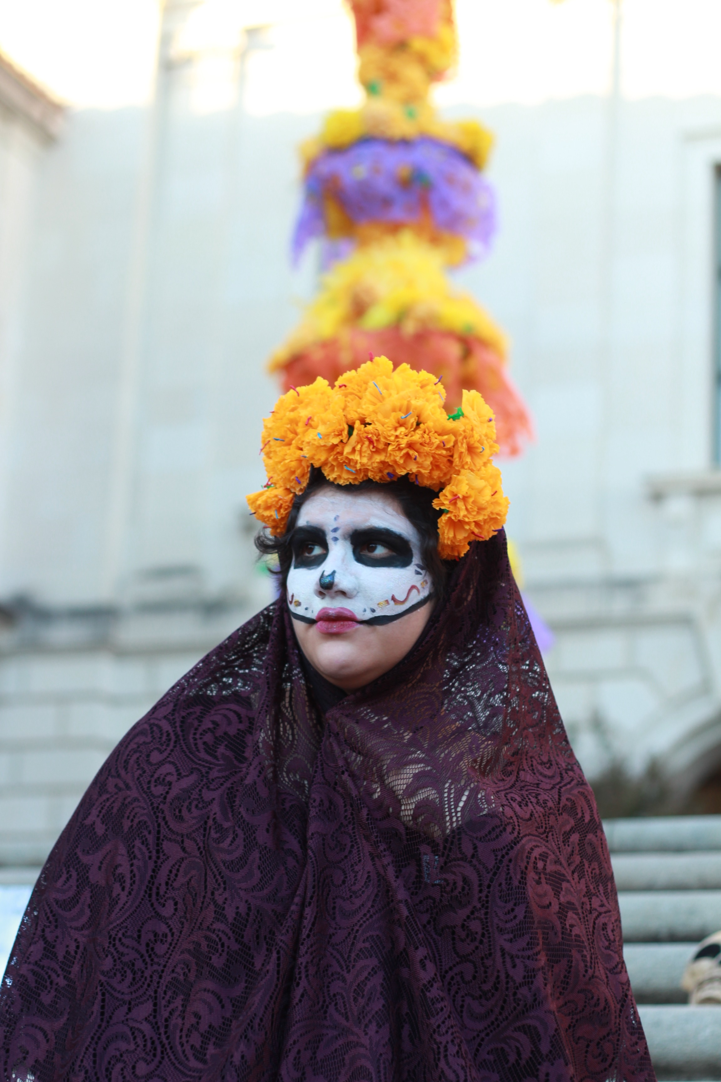 Natalia Rocafuerte's  Catrina  costume shows a modern adaptation of the Aztec goddess of death, a prime example of the traditional beauty shown in the holiday's aesthetic.